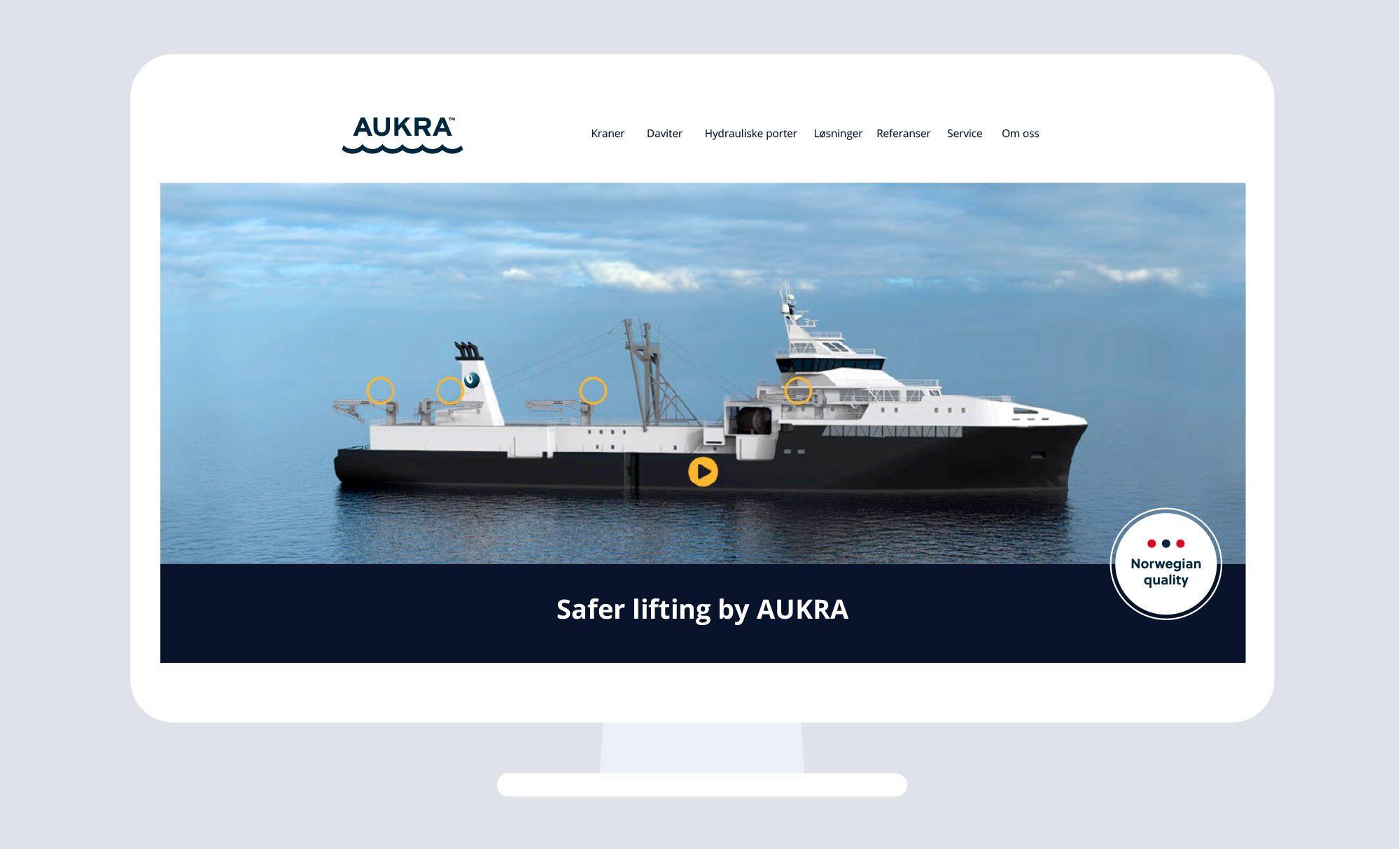 Aukra Maritime - Kraner - Daviter - Hydrauliske Porter