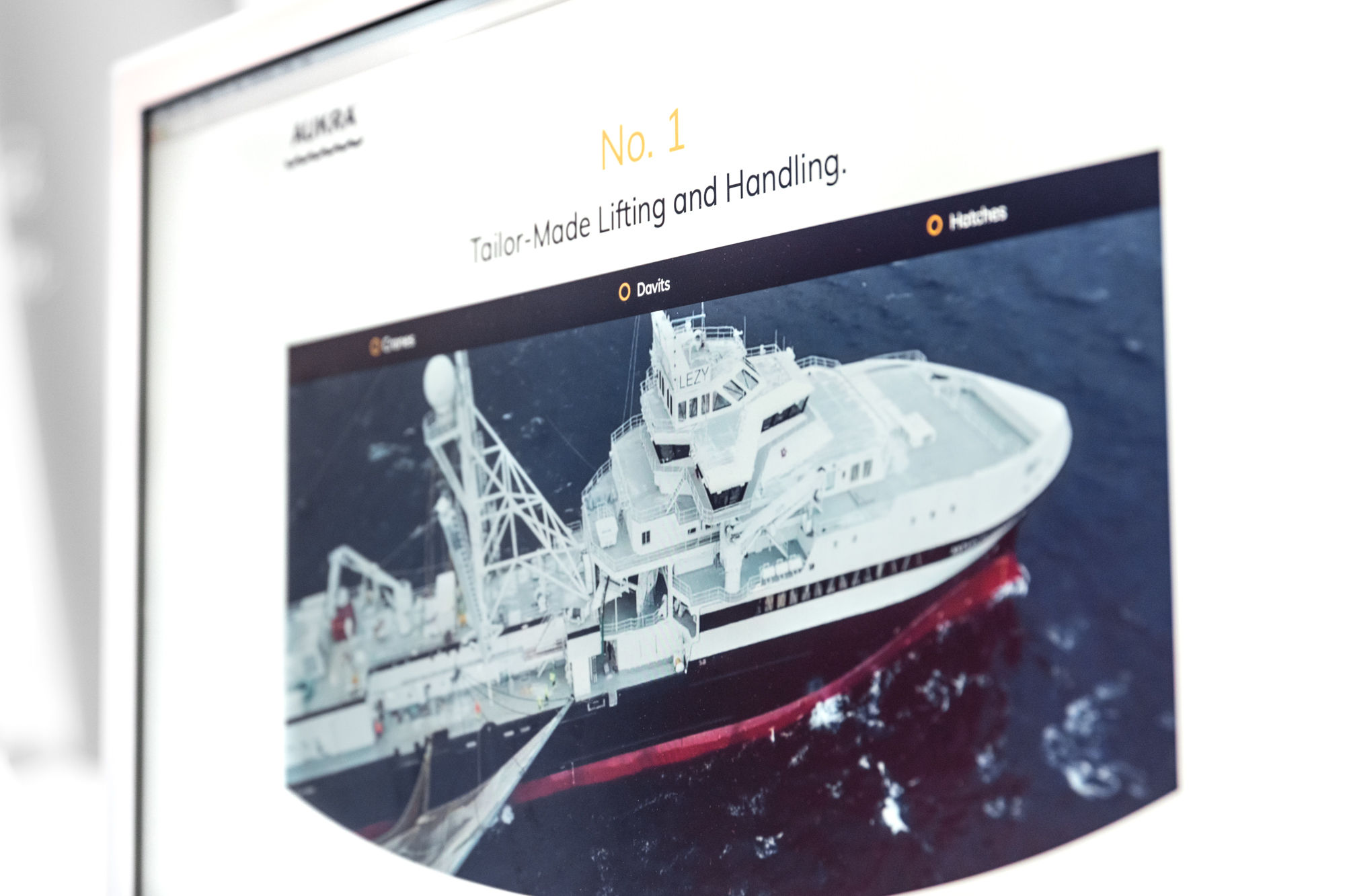 ny nettside for aukra maritime grafia